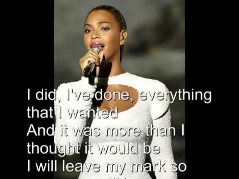 Beyoncé Knowles I Was Here HQ with Lyrics