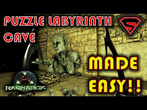 ARK RAGNAROK PUZZLE LABYRINTH CAVE - LABYRINTH PUZZLE CAVE PASSWORD &  EASIEST WAY TO DO IT