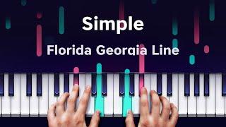 Florida Georgia Line - Simple on iPhone (Yokee Piano) screenshot 1