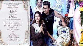 Prince Narula And Yuvika ने अपना wedding card गणेश जी के चरण पे रखा