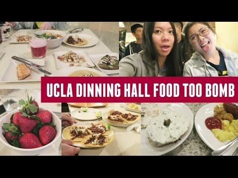 Delicious UCLA Dinning Hall Food, Friends, Work & MORE!
