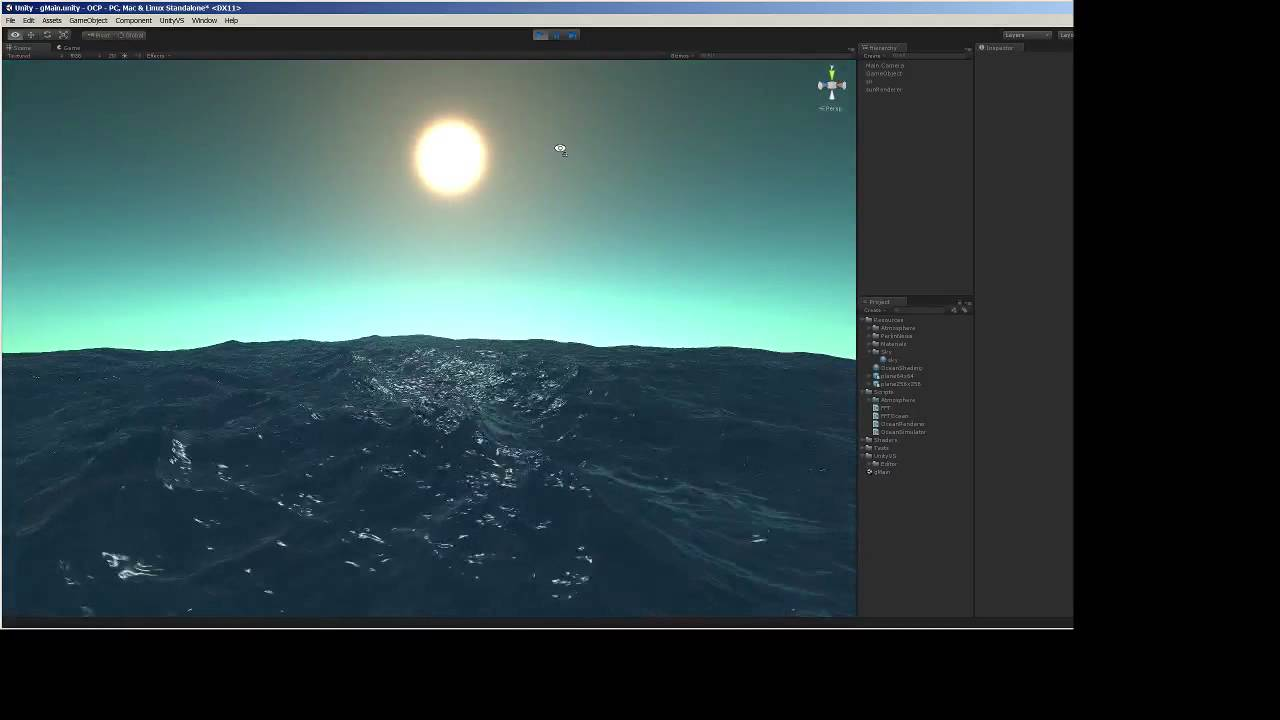 how to make ocean unity