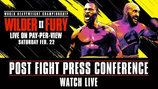 Wilder vs Fury 2 Post-Fight Press Conference | Watch Live