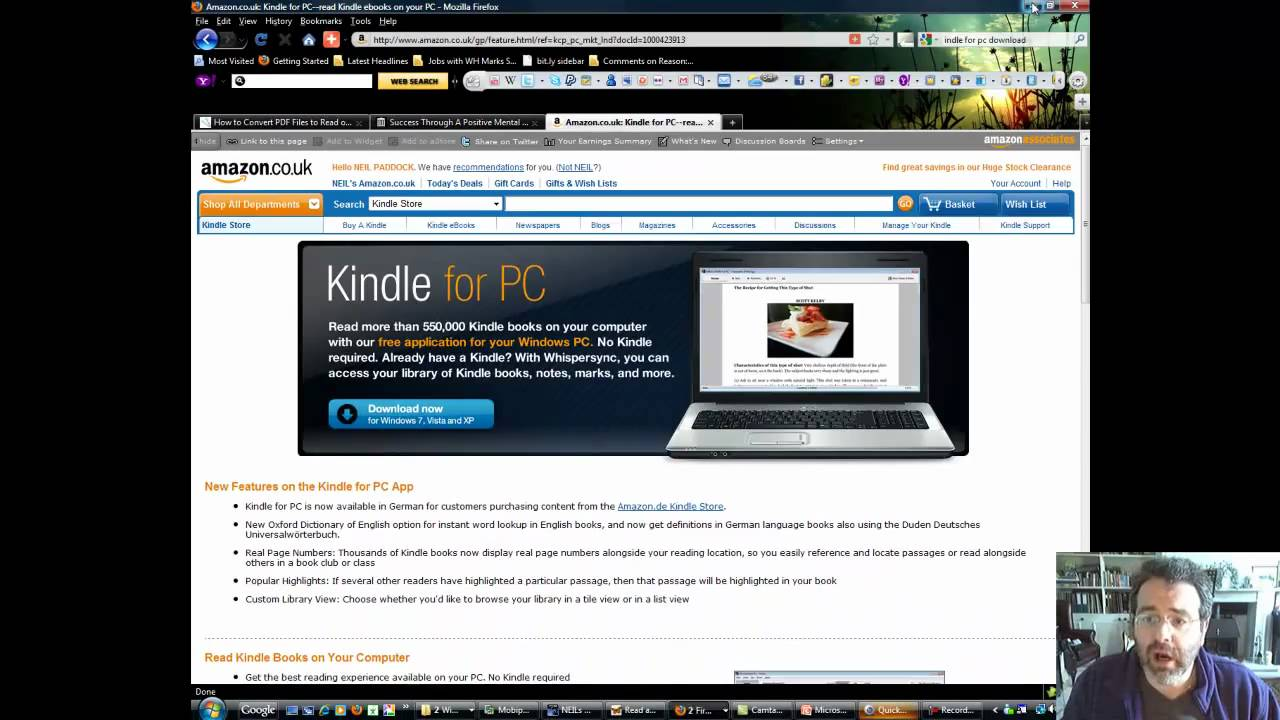 how to read your kindle books on pc