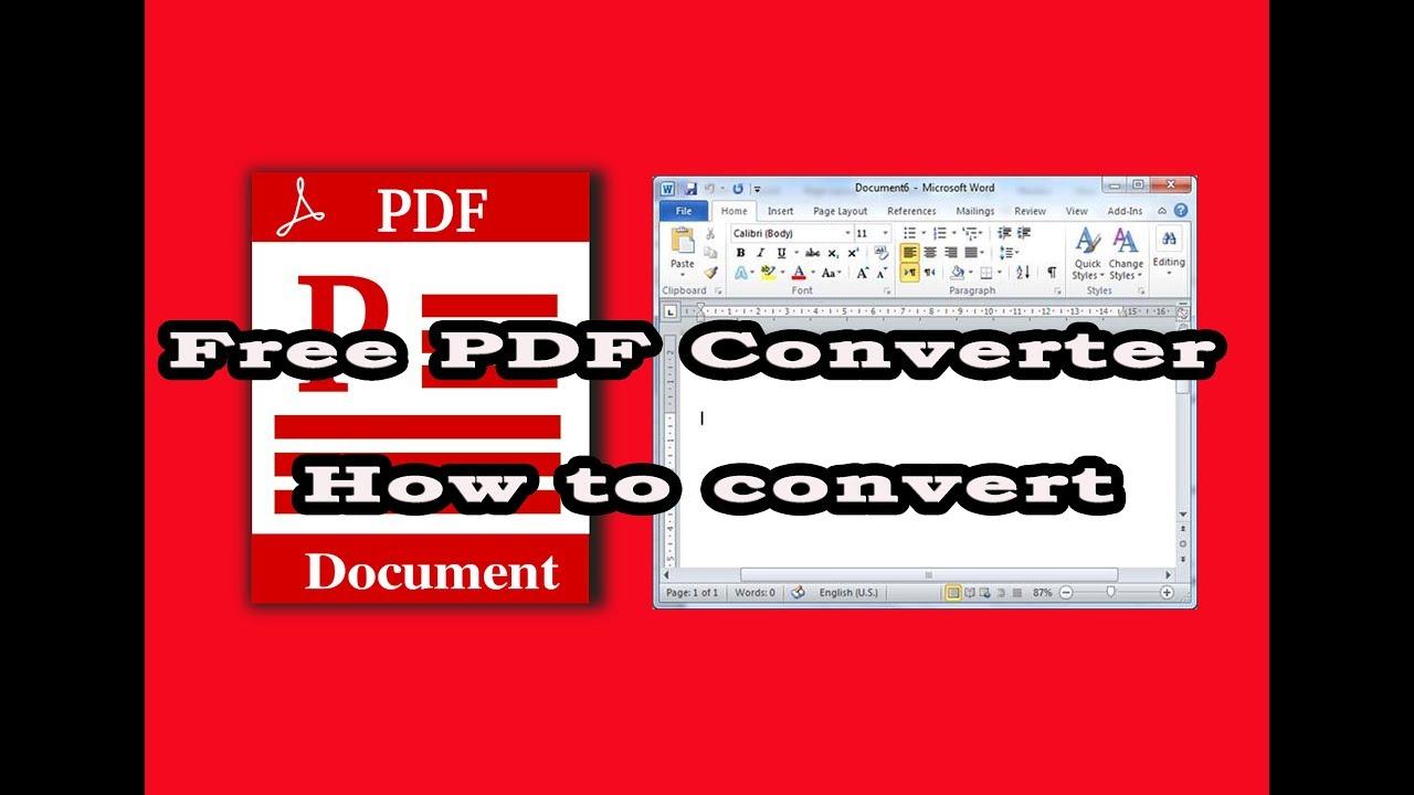 free pdf converter to word large files