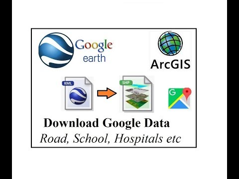 Download Google map data for offline use in ArcMap shapefile or QGIS