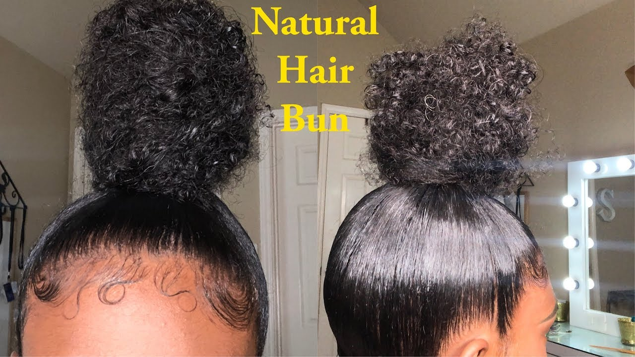 Sleek High Bun Tutorial | Natural Hair