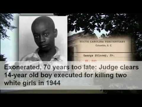 Judge overturns conviction of 14-yo executed in 1944 Finally! - George Stinney Exonerated