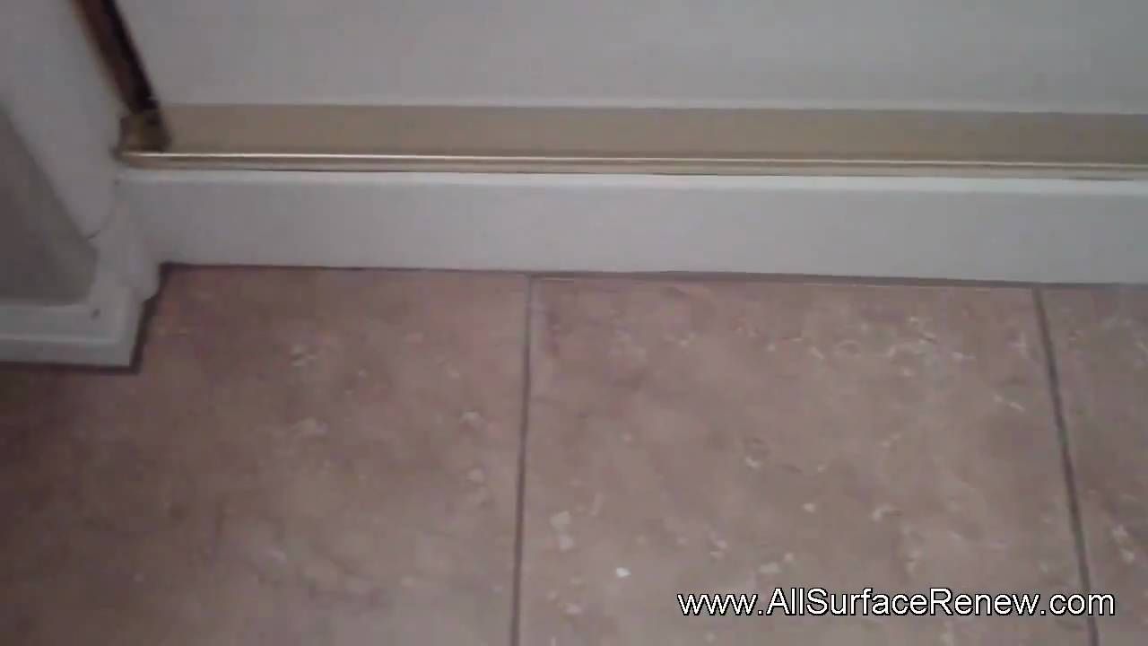 Shower Pan Refinish & Crack Repair - YouTube