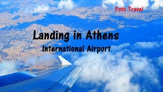 Athens airport  landing , Greece / Посадка в  аэропорту Афин, Греция(Landing in Athens International Airport