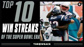 Top 10 Longest Win Streaks in NFL History!