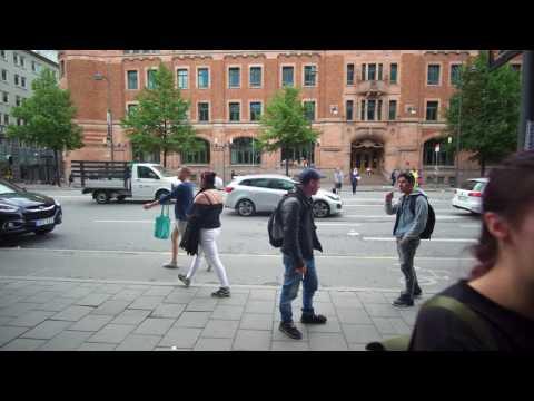 Sweden, Stockholm, PRIDE, walking from Central Station to Stureplan