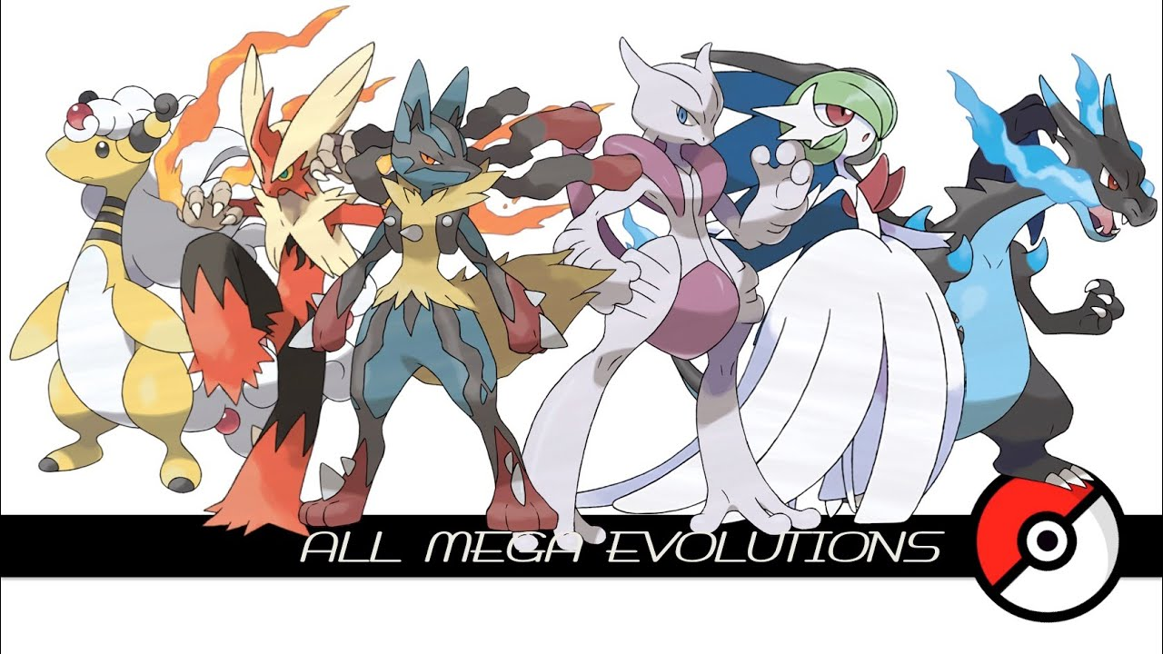 All Mega Evolutions (メガシンカ) - YouTube