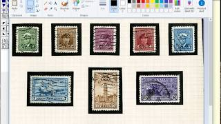 Stamp Album Pages with Black Borders