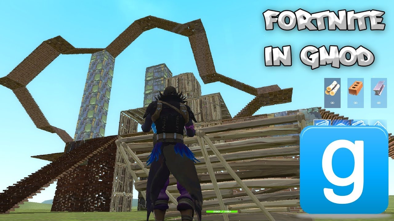 build forts in gmod fortnite mod 2 weapons characters building - fortnite gmod map
