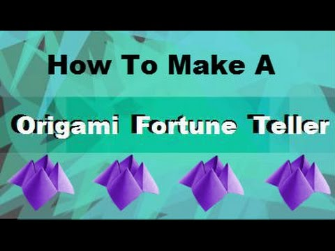 how to make a origami fortune teller youtube