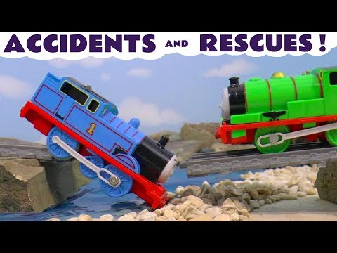 Thomas & Friends Toy Trains Accidents and Rescues - Train Toy Stories for kids Tom Moss TT4U