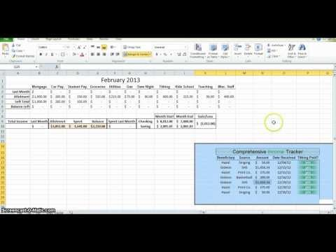 How to Make a Budget in Excel - Part 2