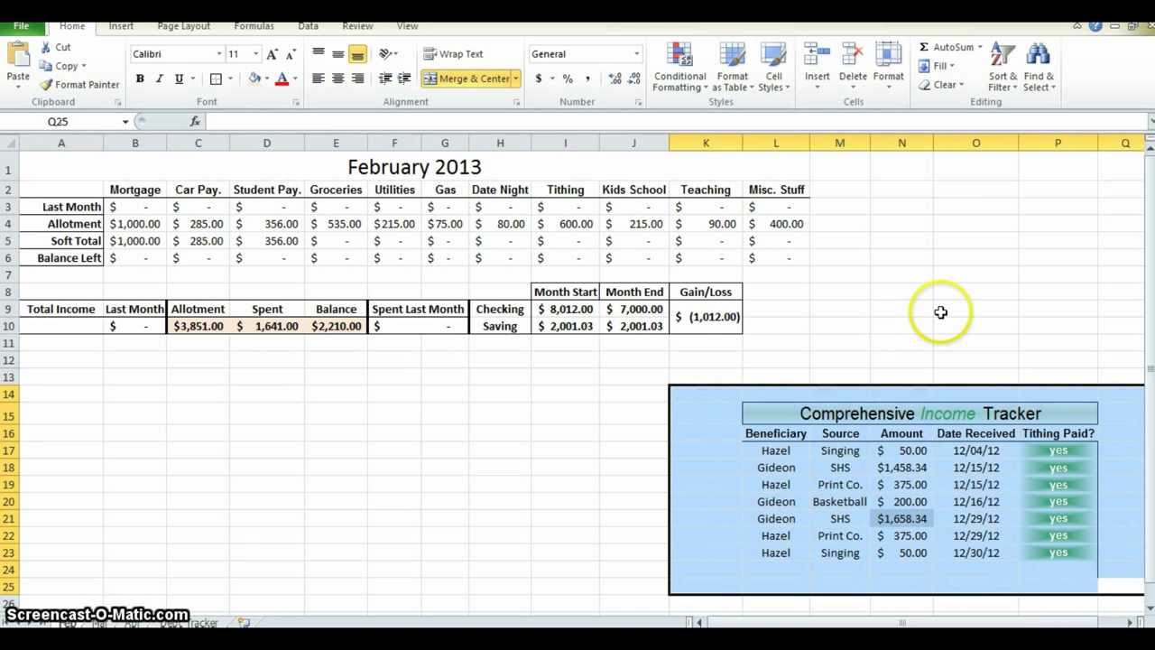 making a budget in excel