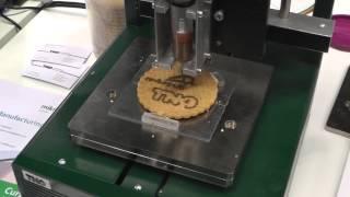 3D Food Printing Chocola Printen Chocolate Printer Printed Vakbeurs Rapid Pro 2013 Veldhoven
