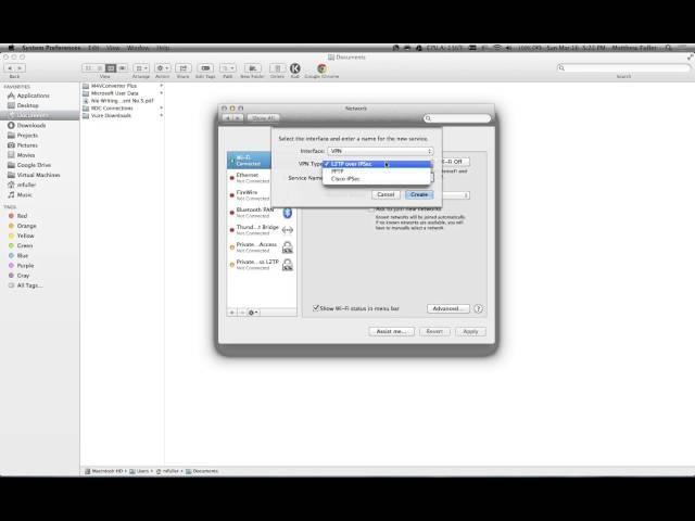 How to Setup a VPN on Mac OS X