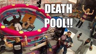 GTS WRESTLING: Dead Pool 2! WWE Figure Matches Animation! Mattel Elite Action Figure Toys