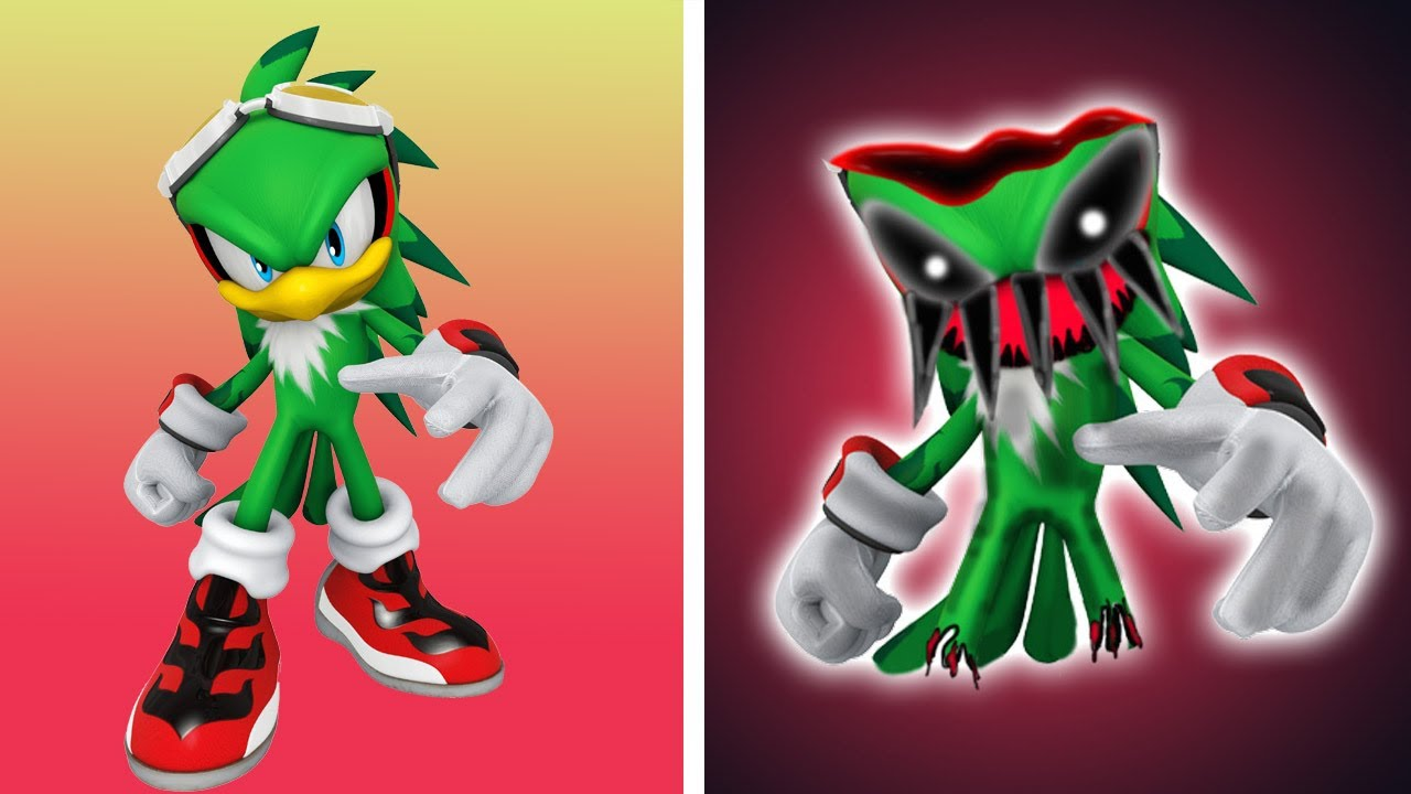 Sonic The Hedgehog JET THE HAWK As Horror Version