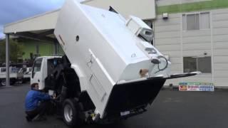 中古トラック 豊和工業 路面清掃車 ストリートスイーパ HA75 各作動テスト サブエンジン