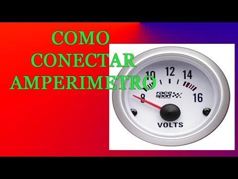 Como conectar amperimetro y pruebas
