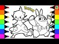 Pokemon Coloring Pages Dewott Pignite and Servine Colouring book fun for kids