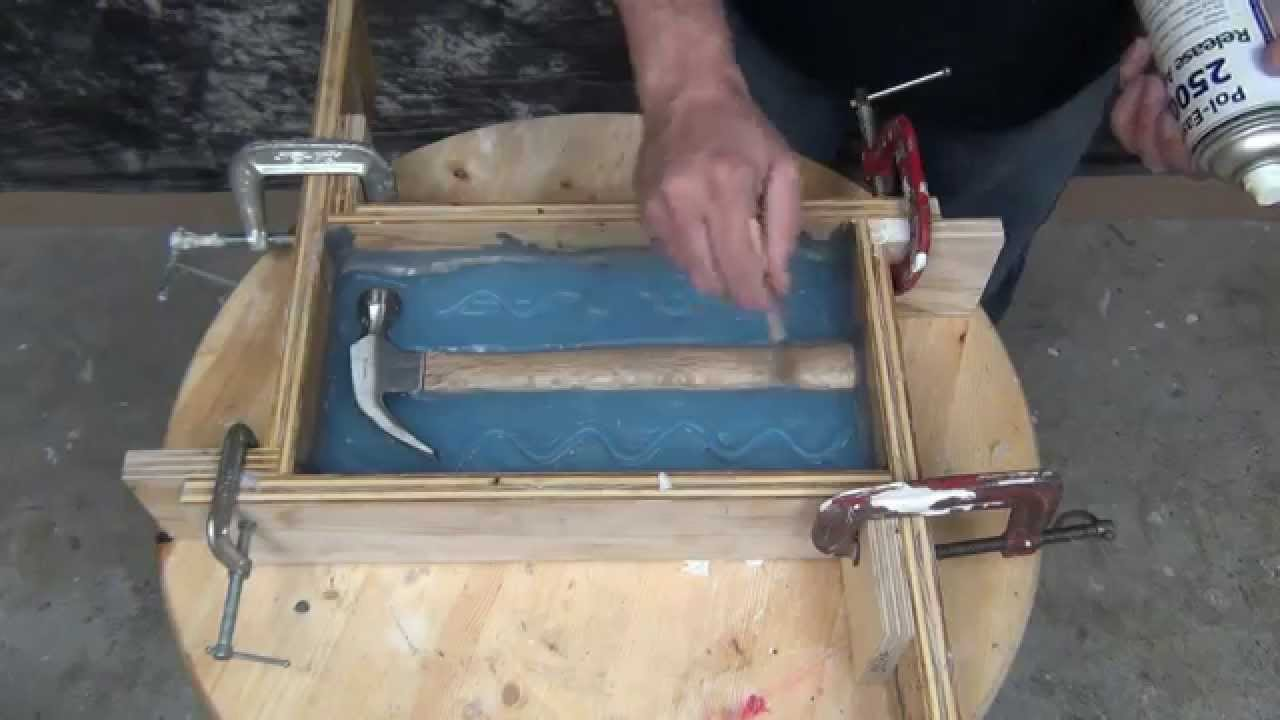Mold Making Tutorial: 2 Piece Silicone hammer mold With 73-20