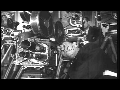 President Truman addresses the nation on the issue of Korean War and signs an eme...HD Stock Footage