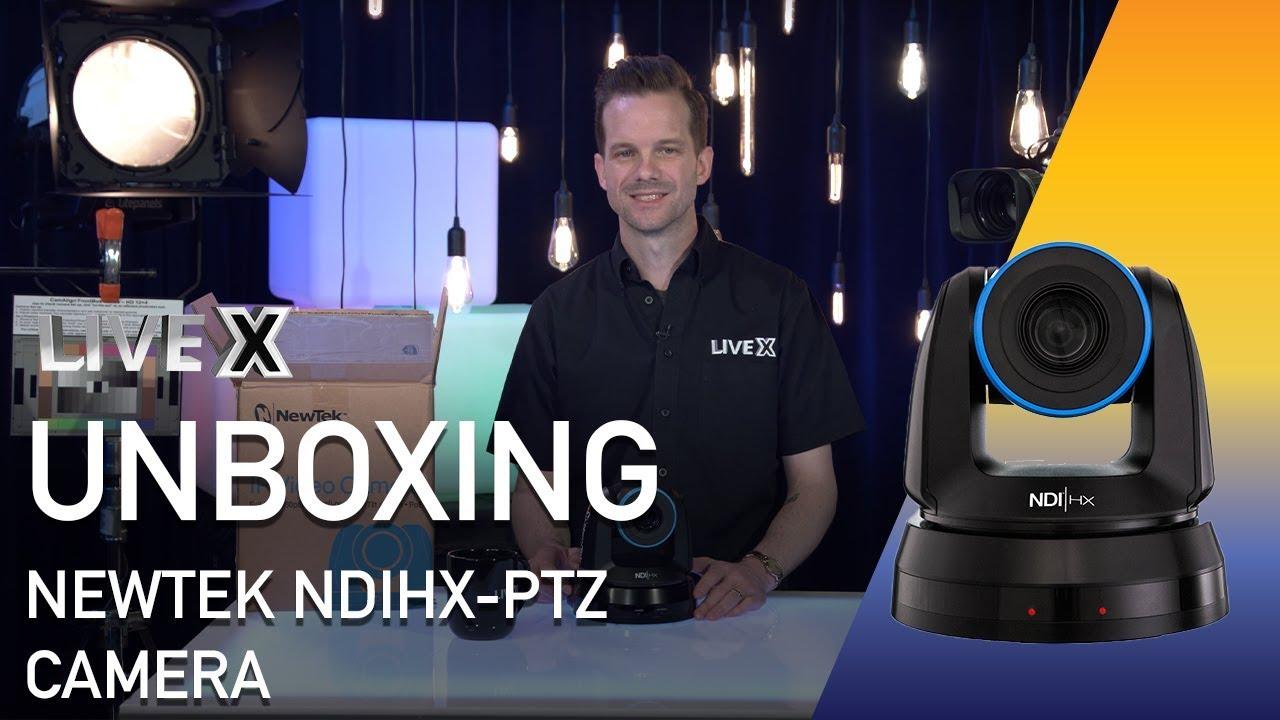 Unboxing: NewTek NDIHX-PTZ1 NDI PTZ Camera   Live X