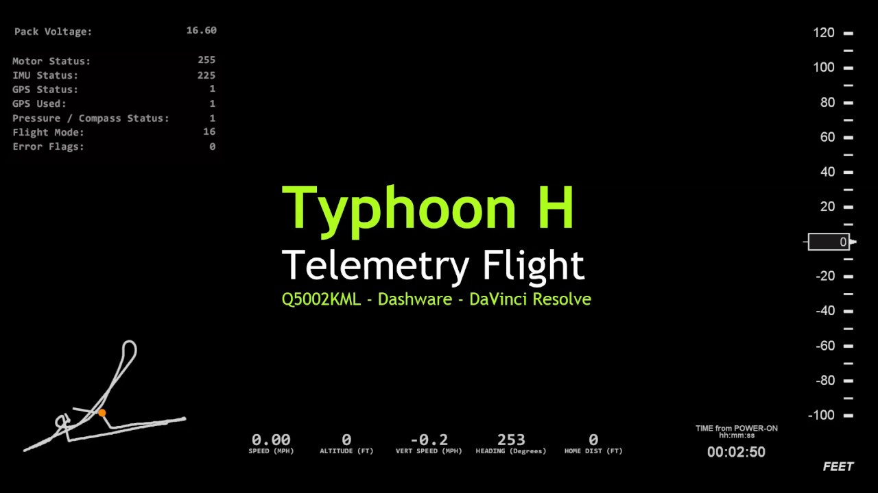 Dashware Tutorial - Flight Data Video Overlay | Yuneec Drone