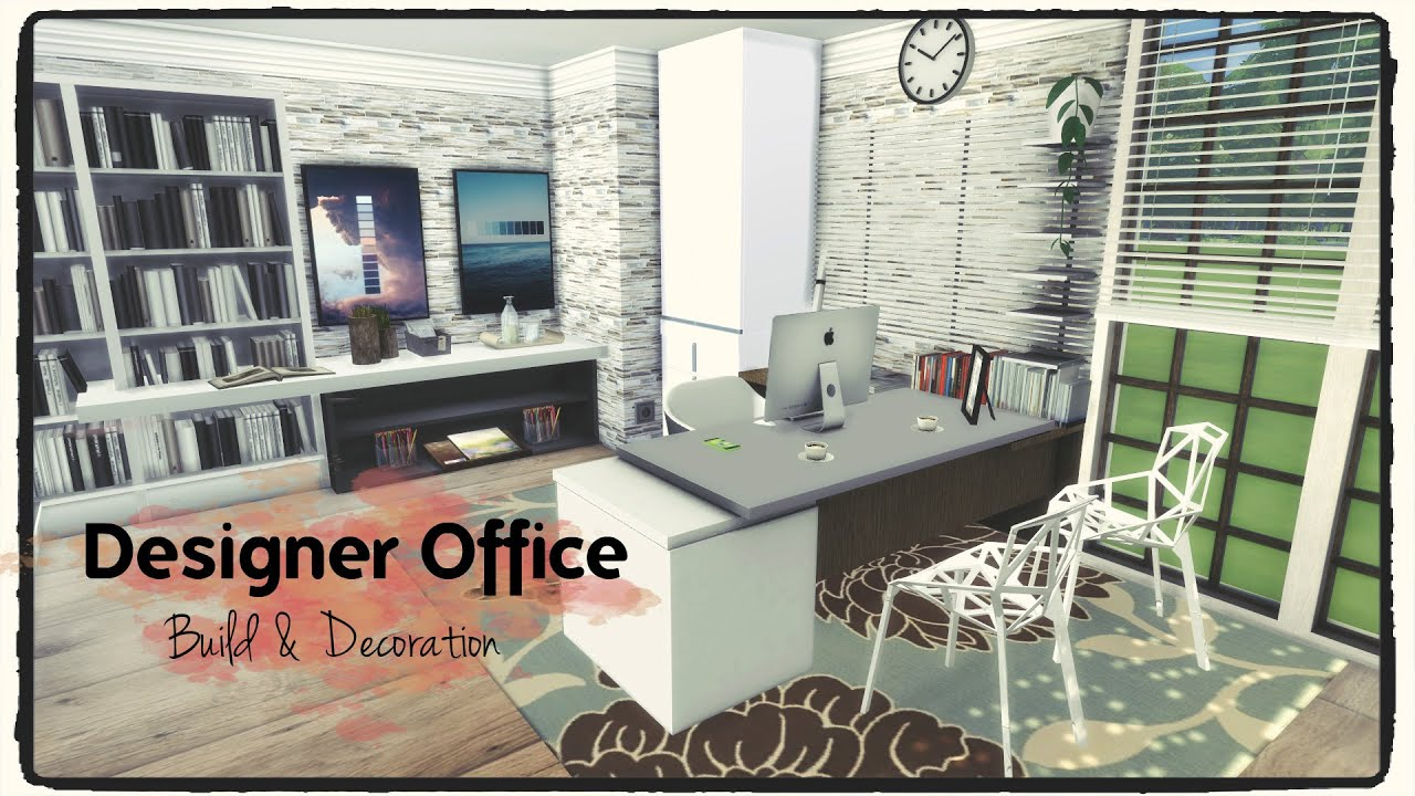 Sims 4 designer office build decoration for download for Bedroom design simulator free