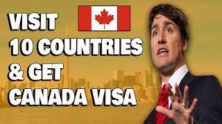 Visit 10 Countries To Get Canada Visa Tourist Base