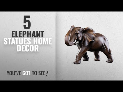 Top 10 Elephant Statues Home Decor [2018 ]: Feng Shui Elephant Statue Rosewood Color Wealth Lucky