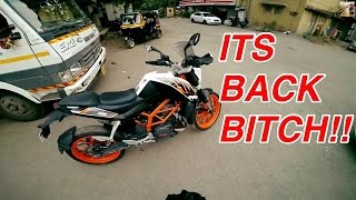 MY BABY IS BACK!!!! | KTM Duke 390