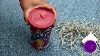 Faça você mesmo- Luminária reciclando lata de nescau