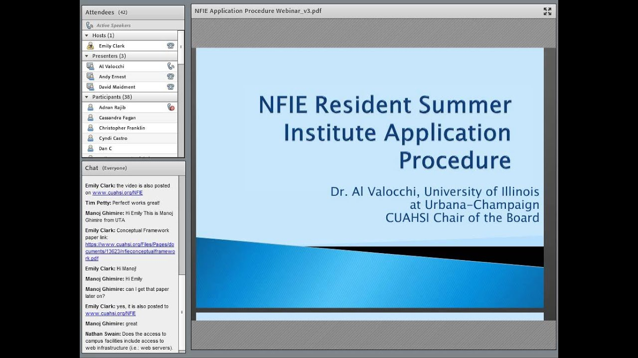 Summer Institute Application Procedure | Cyberseminars