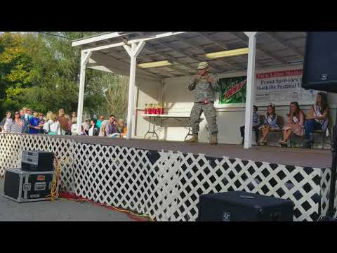 Albany Kentucky Foothills Festival Lip Sync Contest 2017 God Bless the USA  Lee Greenwood