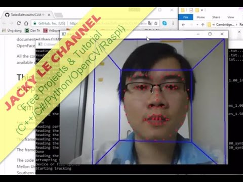 Real Time Face feature recognition full library source code OpenCV