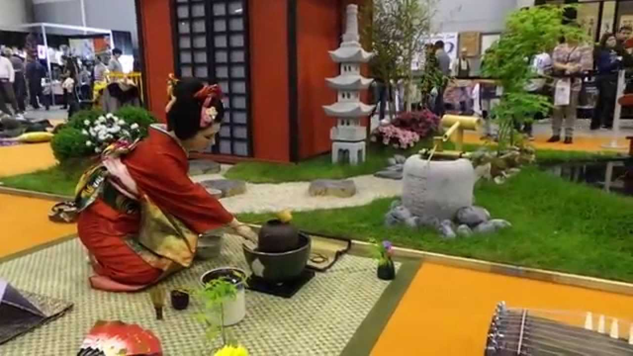 Buddhist Ceremony Traditional Japanese Garden: Japanese Tea Ceremony Video