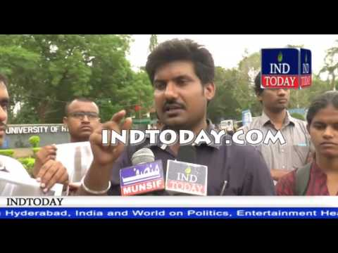 Attack on ABVP activist in University of Hyderabad, ABVP HCU demands Justice