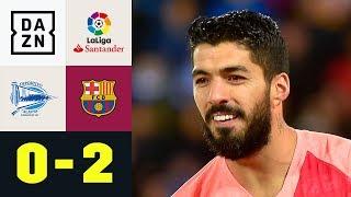 Luis Suarez schießt Barca Richtung Titel: Deportivo Alaves - FC Barcelona 0:2 | La Liga | DAZN