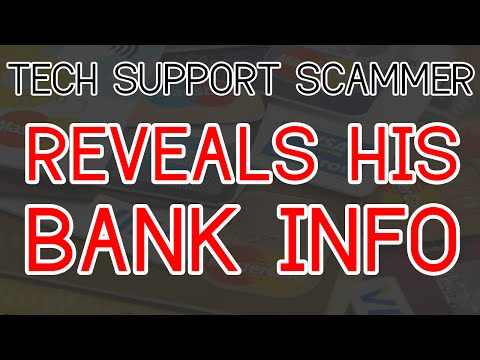 TECH SUPPORT SCAMMER LOGS ME INTO HIS BANK ACCOUNT