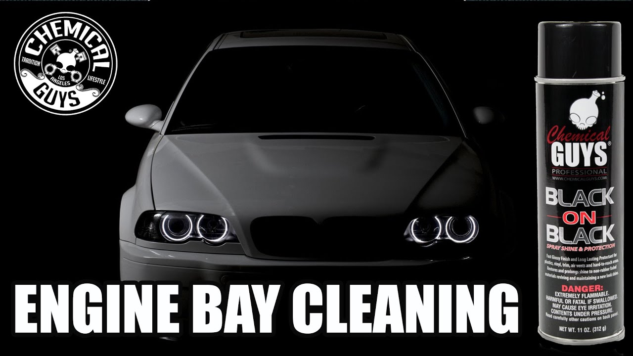 BMW M3 How To Engine Bay Cleaning   Chemical Guys Black On Black   YouTube