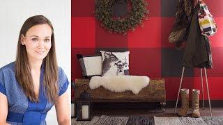 Interior Design — DIY Plaid Painted Wall