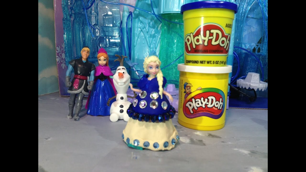 FROZEN PLAY DOH Tuorial How to Make Princess Elsa A Play Doh Dress