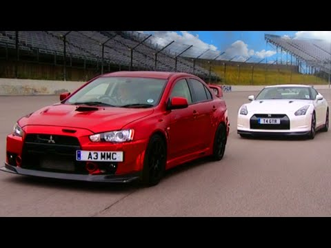 Nissan GTR vs Mitsubishi EVO FQ 400 Fifth Gear